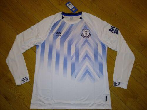 NEUF avec étiquettes Everton FC 3rd Chemise 18//19 en jersey à manches longues Adulte Petit S