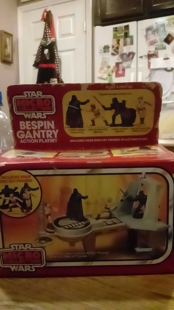 Star wars micro collection bespin gantry action playset 1982