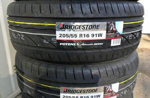Copertoni-Pneumatici-auto-205-55-16-91W-Bridgestone-RE002-gomme-nuove-estive