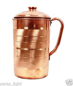 1200 ML Traditional Copper Jug Water Storage Flask Ayurvedic Health Benefits