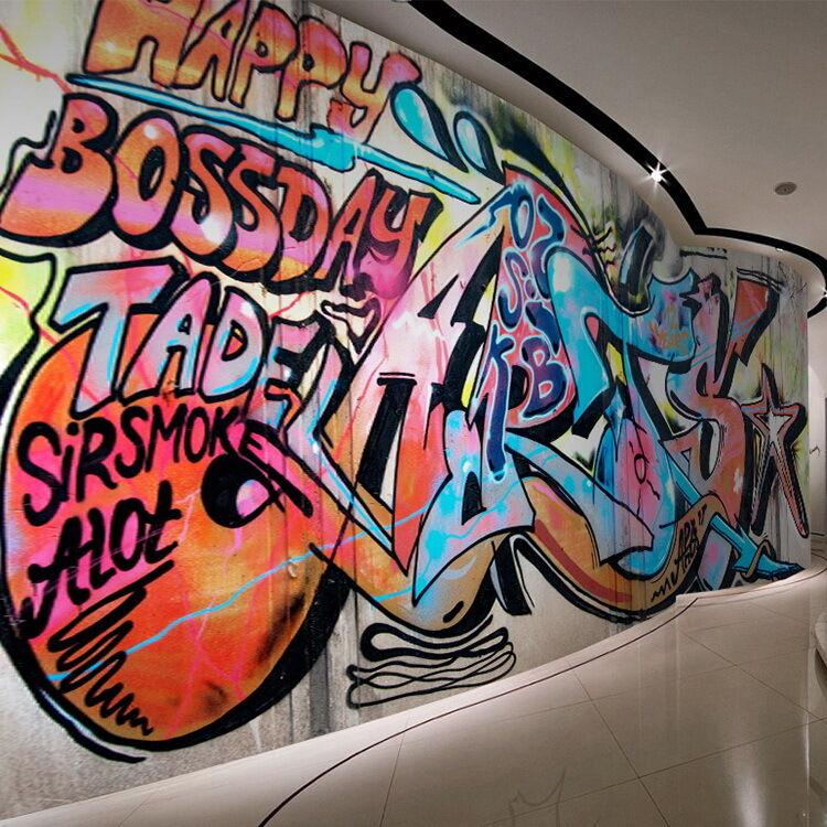 3D Text, Bilder Graffiti 5 Fototapeten Wandbild Fototapete BildTapete Familie DE