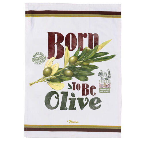 Natives Geschirrtuch Küchentuch Born to be Olive Retro
