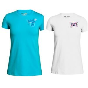 3d7eb8e7757 NWT Girls Under Armour T Shirts -Soccer   Sports Related- Short ...