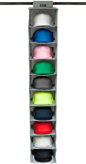 10 Shelf Hanging Closet Holder for Baseball Caps Using a Monolithic PP Plate Sheet and Customized Dimensions Fit Protect Your Hats and Keep its Shape 1 Pack STEVOY Hat Storage Racks Organizer