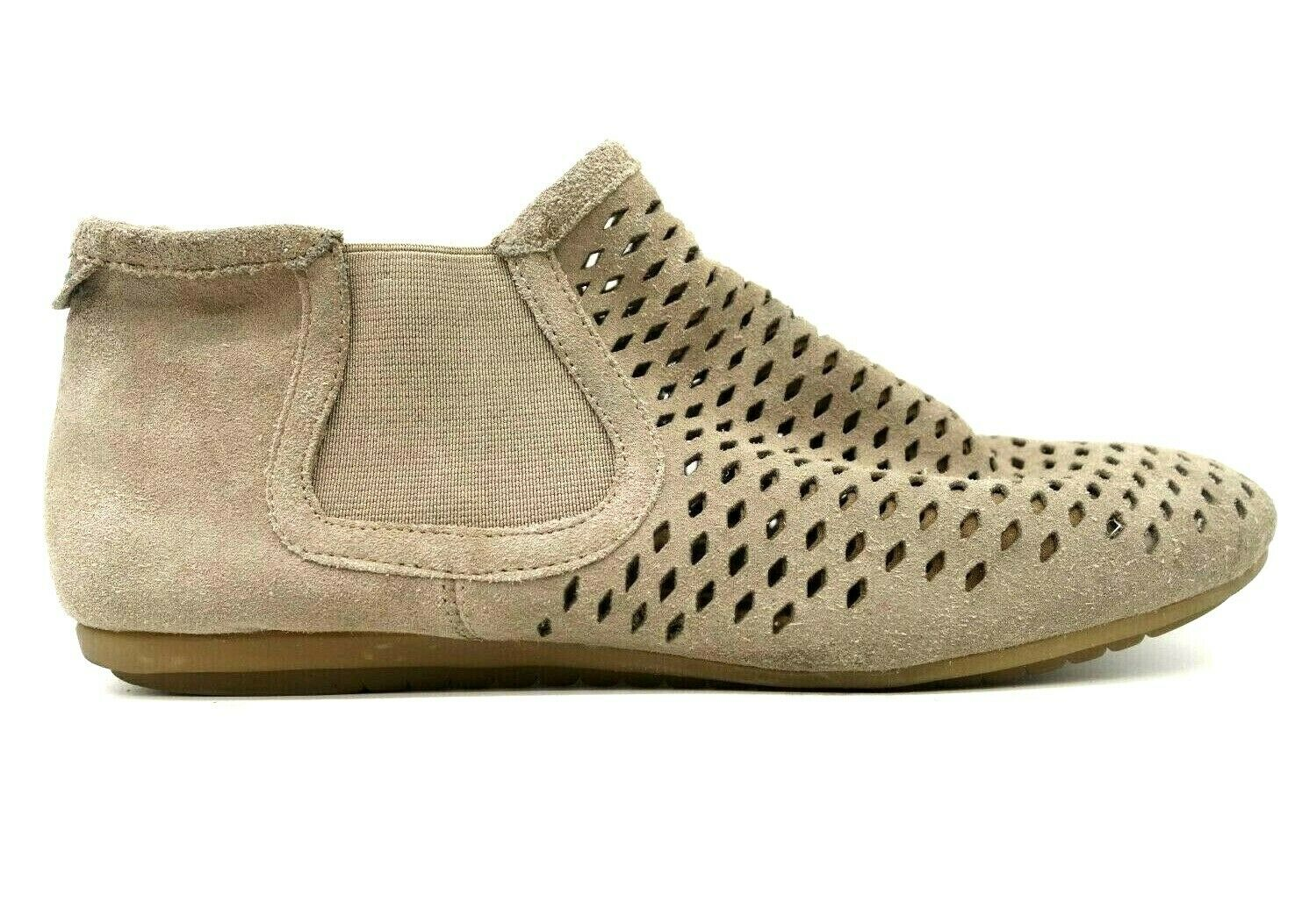 Cobb Hill New Balance Taupe Leather Perforated Chelsea Ankle Boots Women's 7.5 M