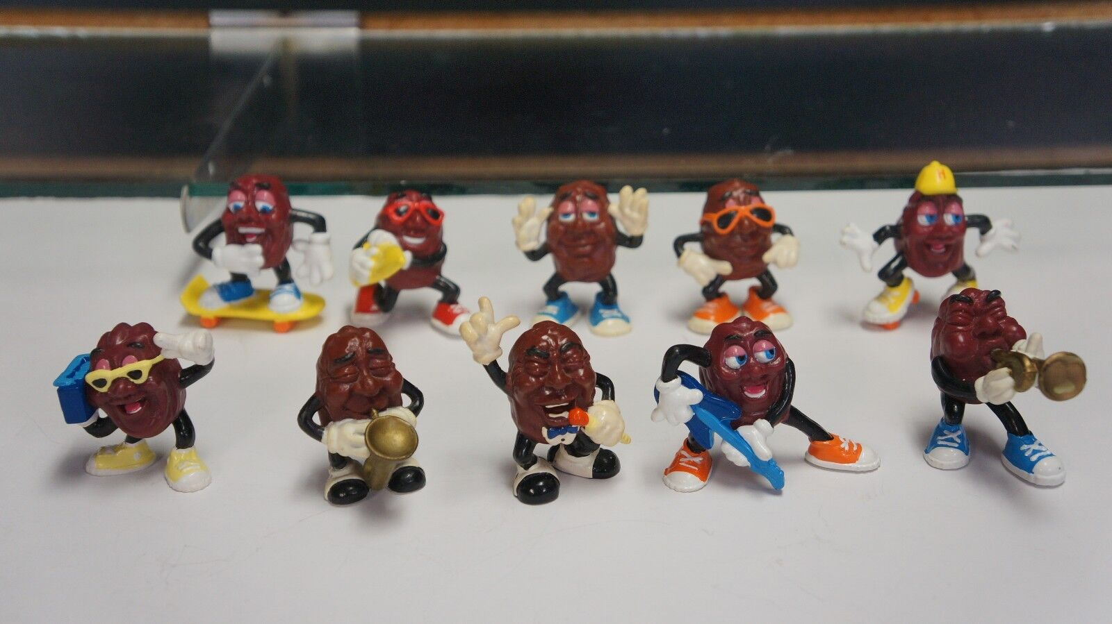 Lot Of 10 Figures Vintage California Raisins Figures 10 1988 Fbfb15
