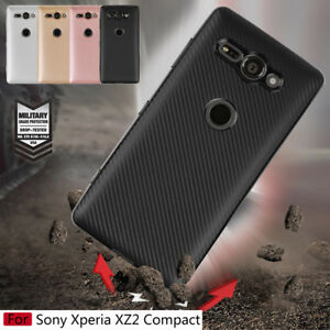 check out e94e0 c160f Details about For Sony Xperia XZ2 Compact, Slim Shockproof Soft TPU  Silicone Full Cover Case