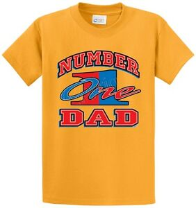Number 1 Dad Father 39 S Day Men 39 S Printed T Shirt Regular