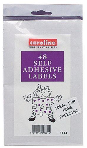Self Adhesive Food Storage Labels Pack of 48 Packed Lunch School Freezer Jars