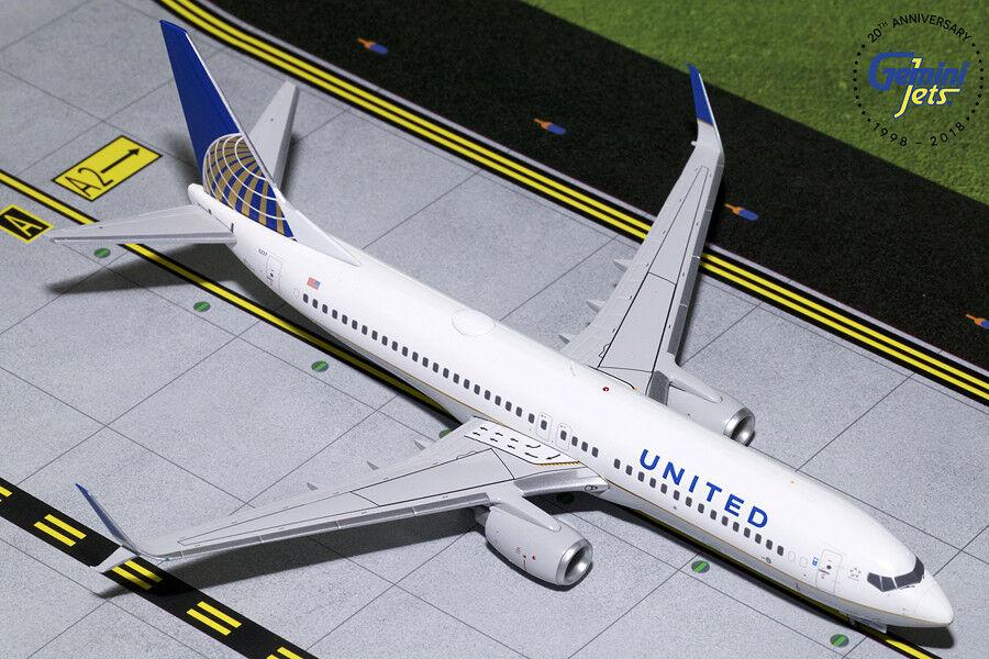 calidad fantástica United Boeing 737-800 N14237 Gemini Jets G2UAL759 escala escala escala 1 200  toma