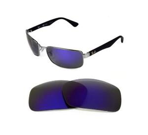 ee23f4bcc85 NEW POLARIZED REPLACEMENT PURPLE LENS FIT RAY BAN TECH RB8316 62mm ...