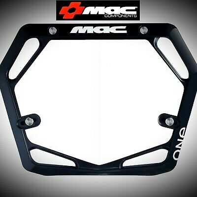 Orange Mac One Race Mode Pro BMX Number Plate