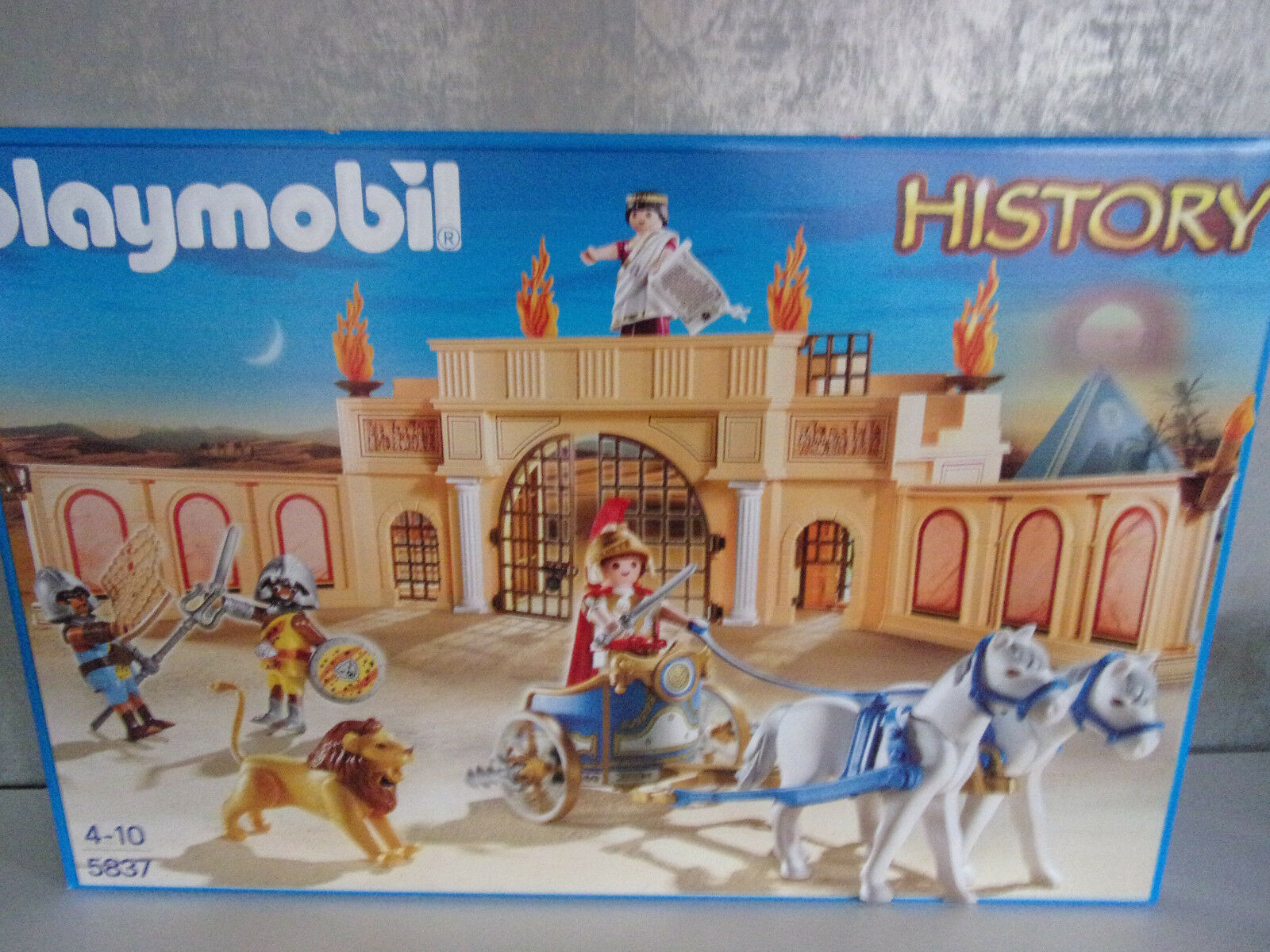Playmobil Histoire 5837 Romain wettkampfarena - Neuf et emballage d'origine