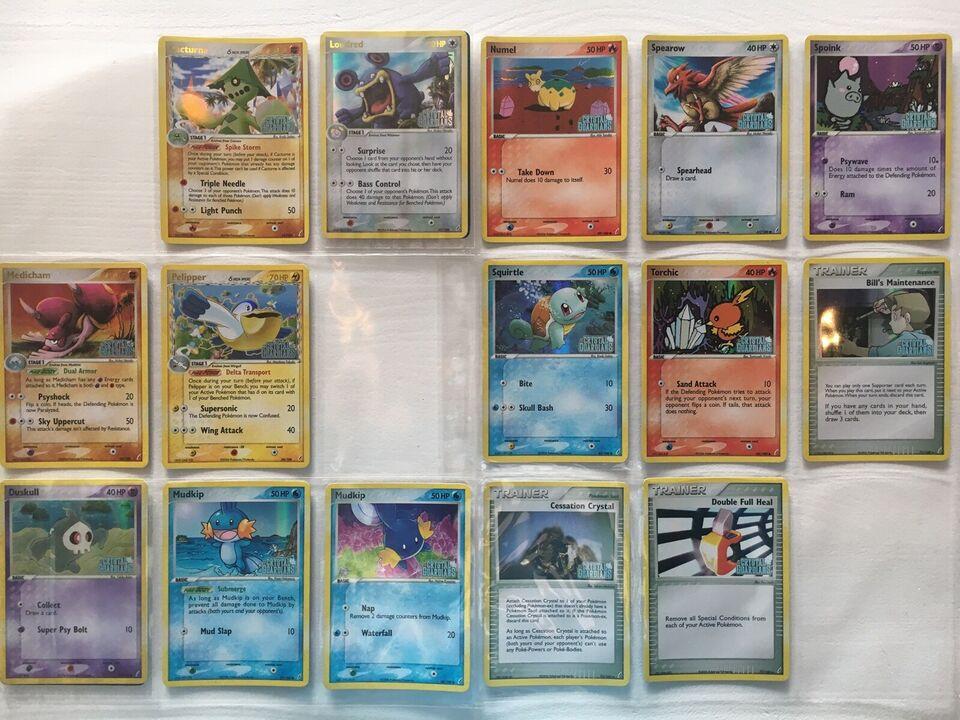 Samlekort, Sjældne Pokémon Kort - Ex Crystal Guardians