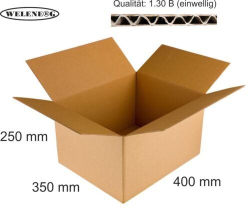 BRAUN 60 Faltkartons 400x350x250mm B-410g//m2  Versandkarton Falt Kartons