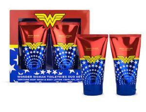 Wonder-Woman-Articoli-da-bagno-DUO-SET-REGALO-bagnoschiuma-Body-Lotion-Regalo