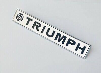 "621468 Scroll Badge for Triumph Spitfire Triumph Chrome /""spitfire/"" Script"