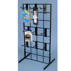 "Metal Grid Wall counter top gridwall display fixture w/ 9- 4"" grid hooks | ebay"