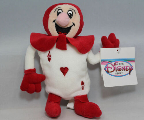 Disney Bean Bag Plush - Alice in Wonderland, Red Card