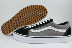 VANS OLD SKOOL BLACK PEWTER GRAY WHITE CHARCOAL CLASSIC SKATE US MEN ... ce1a182e9