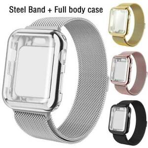 For Apple Watch Series 5 4 3 2 1 Stainless Steel Band Strap Full Body Case Cover Ebay