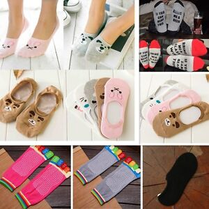Women-1-Pairs-Cute-Non-Slip-Boat-Loafer-Cotton-Invisible-Low-Cut-No-Show-Socks