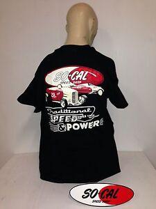 So-Cal-t-shirt-NEW-Speed-amp-Power-BLACK-sz-XXL-rear-print-hot-rod-32-ford-chev