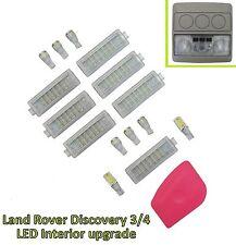 Kit de Luz LED Blanco Interior Completo Landrover Discovery 3+4 Lámpara de Techo de arranque actualización