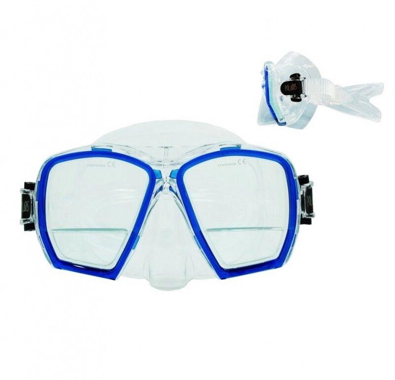Polaris Maske Plus Zweiglas - Tauchmaske mit Nahlesebereich  schwarz schwarz  +1