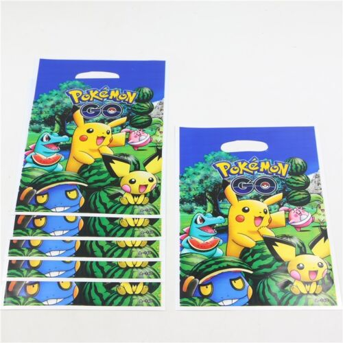 Kids 10 Pokemon regalos de Fiesta Celofán Saquear Bolsas Color Dulce tratar Cumpleaños