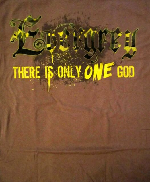 EVERGREY cd lgo THE GOD WITHIN Official Brown SHIRT LAST LRG is only one God OOP
