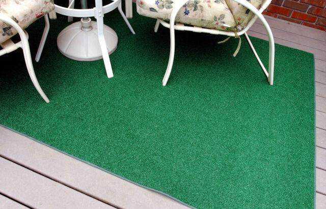 Indoor Outdoor Green Artificial Grass Turf Area Rug Decks Yards Camping Various
