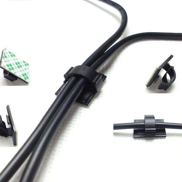 106048 100 x Kabel Anschluss Halter Ladekabel Innenraum Organizer zum aufkleben