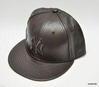 Era 59fifty Neyyan Ny Yankees Leather Baseball Cap Hat Brown/brown 7 7/8