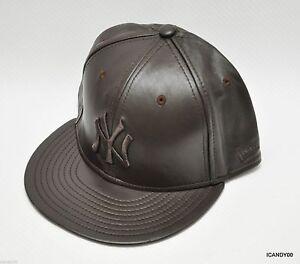 aab5c3e92c11b Nwt New Era 59Fifty Neyyan NY Yankees Leather Baseball Cap Hat Brown ...