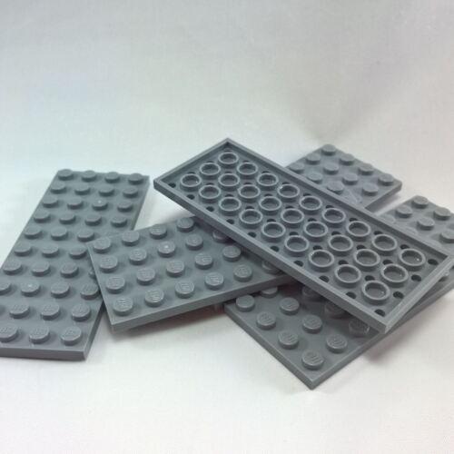 5 NEW LEGO Plate 4 x 10 Light Bluish Gray