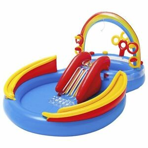 Intex-Inflatable-Kids-Rainbow-Ring-Water-Play-Center-Swimming-Pool-57453EP