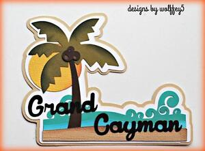 CRAFTECAFE CAYMAN VACATiON TITLE paper piecing premade scrapbook page WOLFFEY5