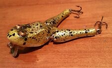 Vintage Fishing Lure Paw Paw Wotta Frog Large WOW gold yellow splatter VGC NICE