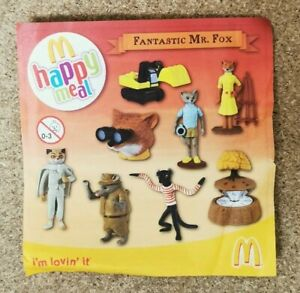 McDonalds Happy Meal Toy 2009 UK Fantastic Mr Fox Character Toys - Various