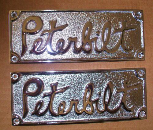 set of 2 VINTAGE PETERBILT NAMEPLATES