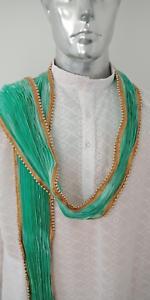 Men-039-s-crushed-Dupatta-scarfs-for-Sherwani-Kurta-Chunni-Stole