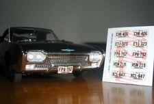 1960 1964 Pennsylvania Miniature License Plates for 1 25 Scale Model Cars