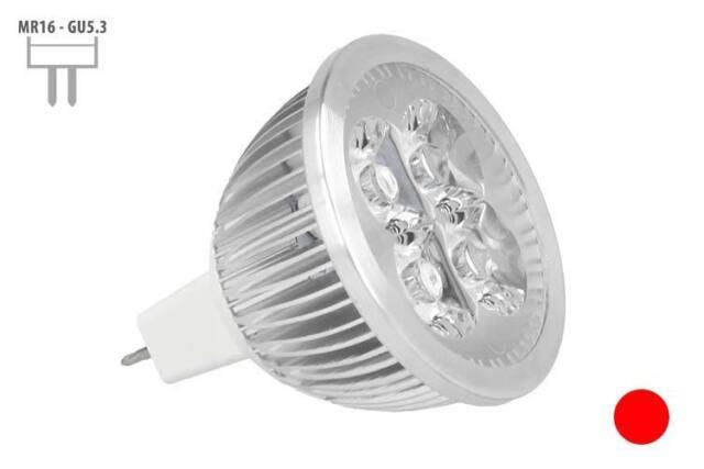 A2ZWORLD LUMINAIRE LAMPE LED DICHROIQUE MR16 GU5.3 12V DC 4W 4X1W COULEUR ROUGE