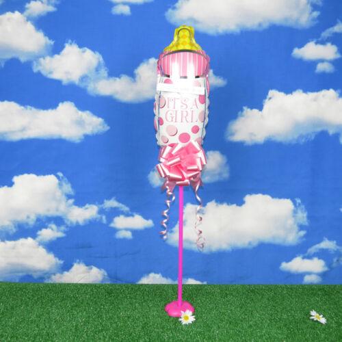 Baby Shower Girl Newborn Pink Christening Balloon Air filled Or Helium Bottle
