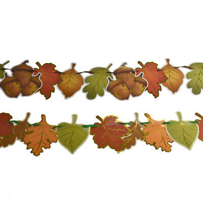 1998 Beistle Autumn Leaves and Acorns Honeycomb Decoration Fall Thanksgiving c
