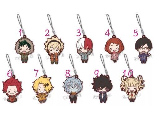 Banpresto My Hero Academia Boku no Hero Akademia Rubber Strap Keychain Key Ring