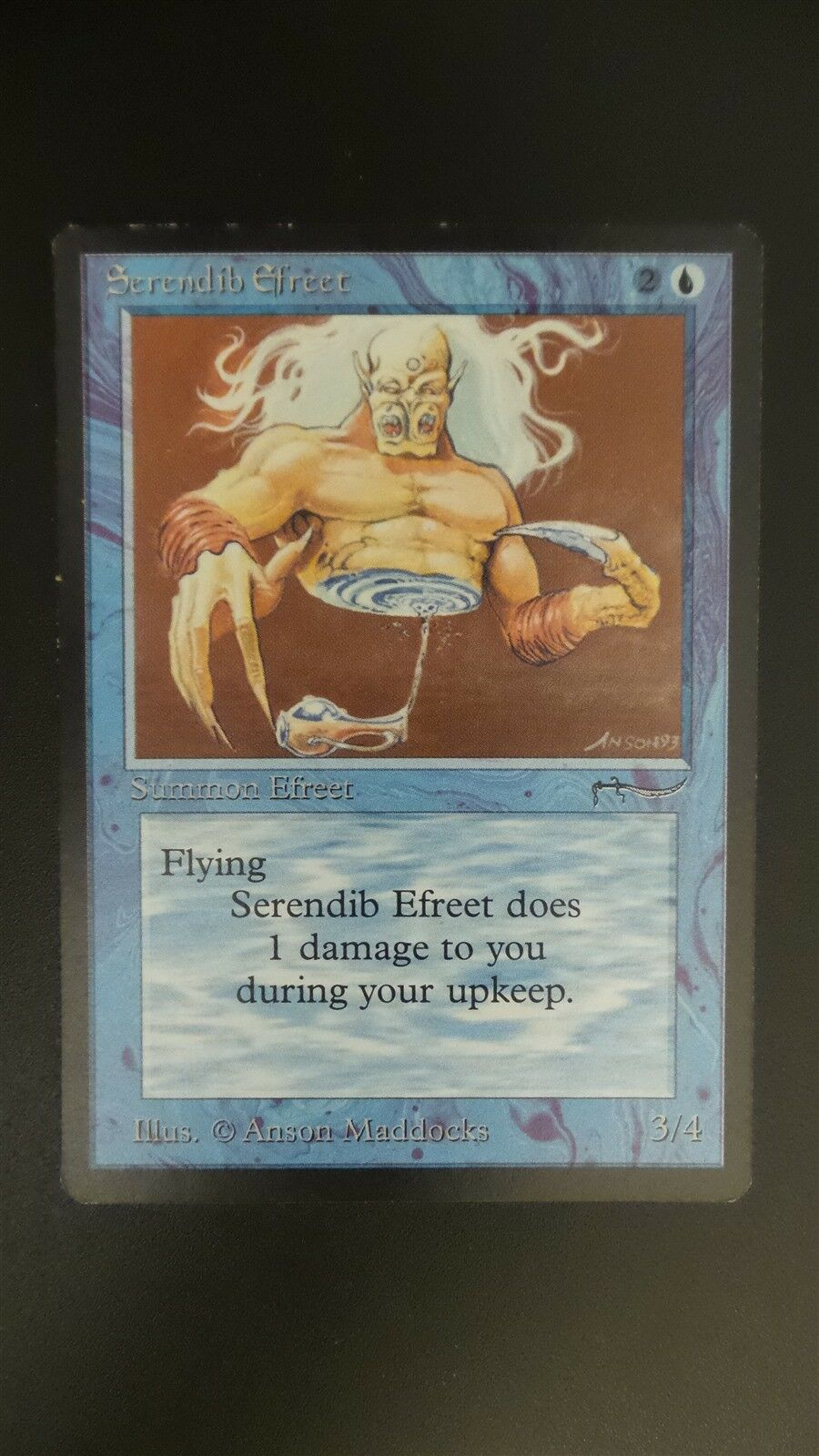 Arabian Nights  Serendib Efreet  Mtg Magic (EX+ LP)