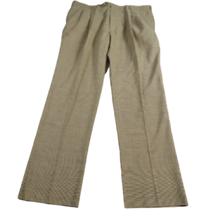 NWT-JoS-A-Bank-Tan-Houndstooth-100-Wool-Pleated-Pants-Men-039-s-Size-44-Regular