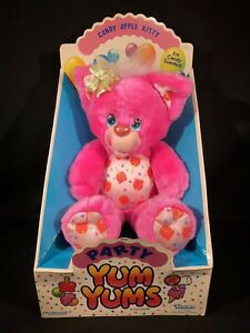 Kenner-Vintage-Party-Yum-Yums-CANDY-APPLE-KITTY-Pink-Plush-Figure-BOXED